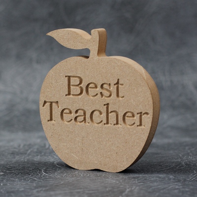 Wooden Apple (Best Teacher) Craft Shapes 18mm Thick