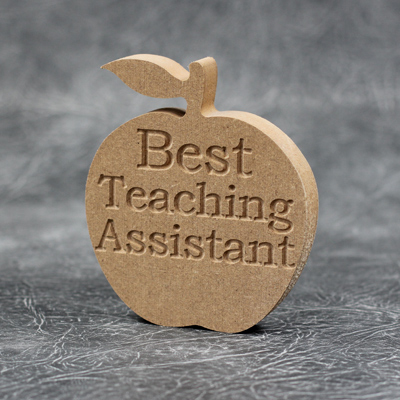 Apple (Best Teaching Assistant) Craft Shapes 18mm Thick