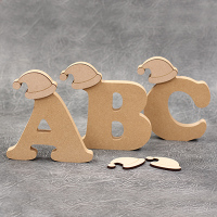 Freestanding Santa Hat Wooden Letters 18mm Thick