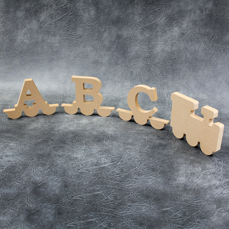 Alphabet Train Carriage Letters 18mm Thick