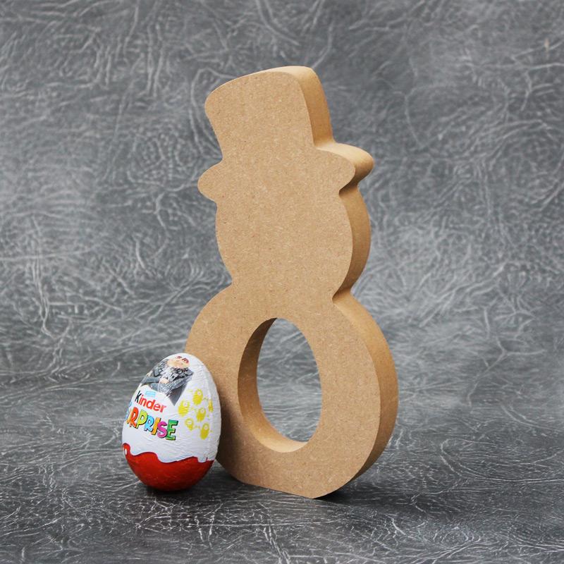 Snowman Kinder Egg Holder 18mm Thick