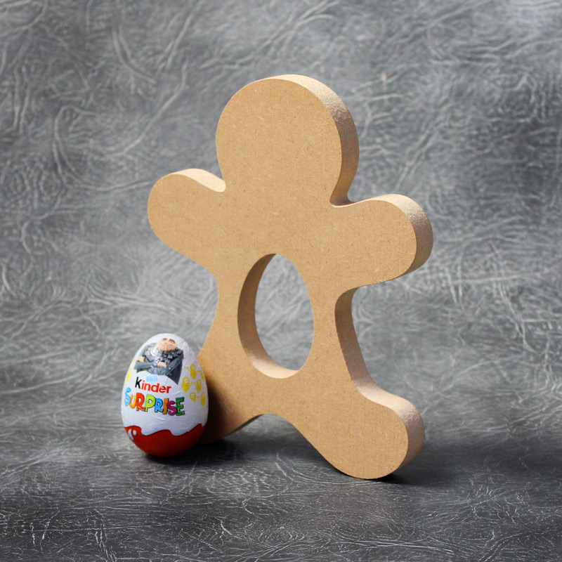 Gingerbread Man Kinder Egg Holder 18mm Thick