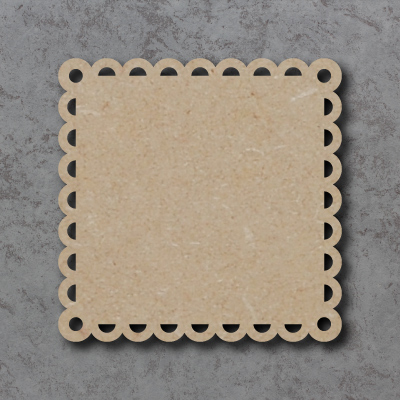 Square Bunting - Scalloped Edges