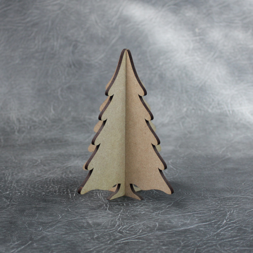 3D Freestanding Snowy Christmas Tree Craft Shapes