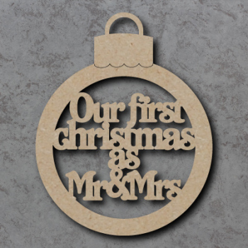 Our First Christmas as Mr and Mrs Bauble