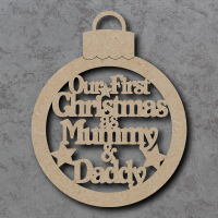 Our First Christmas as Mummy and Daddy Bauble