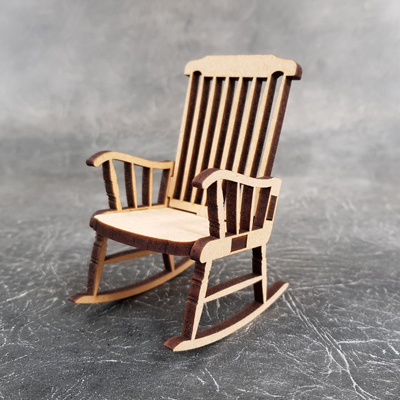 3D Rocking Chair Craft Shapes