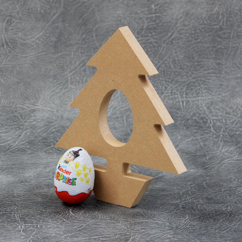 18mm Free Standing Xmas Kinder Egg Holder MDF Blank Rudolf Shape