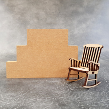 Stacked Blocks 3 Tier - Optional Chair