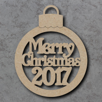 Merry Christmas with Year Bauble