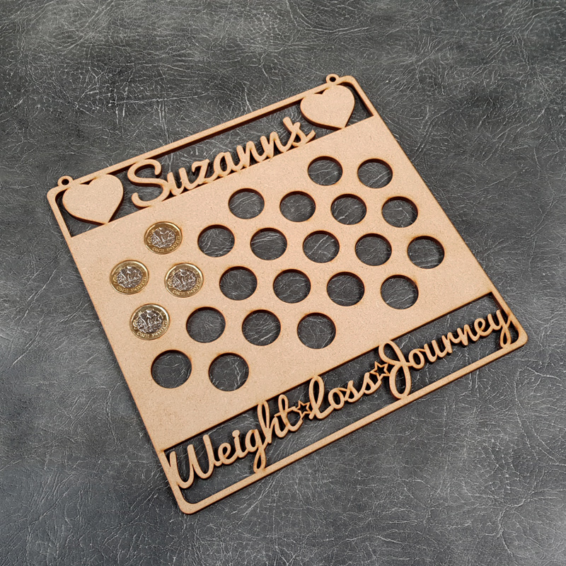 Weight Loss Journey Hanging Craft Sign