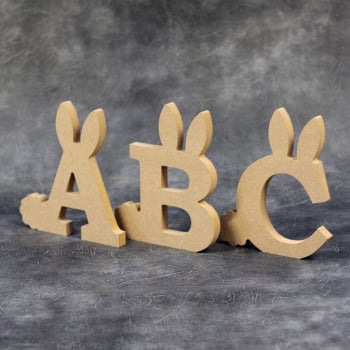 Freestanding Easter Bunny Letters 18mm Thick