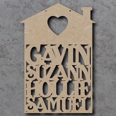Personalised House Name Craft Shapes