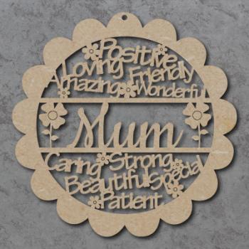 Flower Words Sign