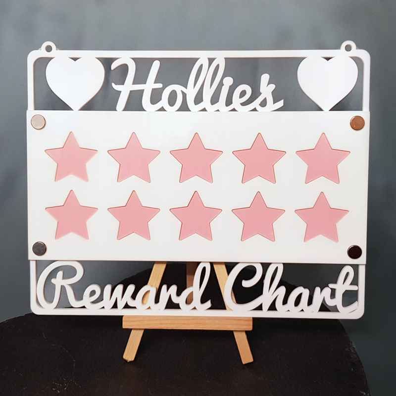 Personalised Reward Chart Acrylic Craft Sign
