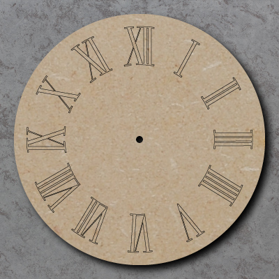Clock Face with Roman Numerals Craft Sign