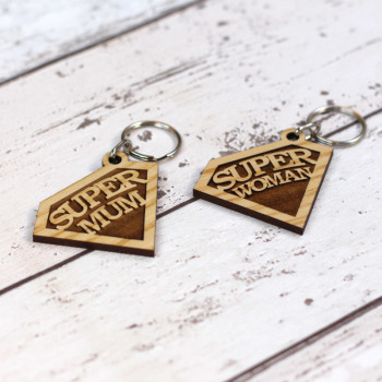 Super Mum / Woman Emblem Keyring