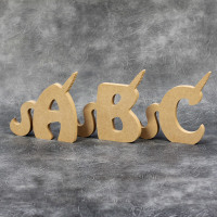 Freestanding Unicorn Letters 18mm Thick