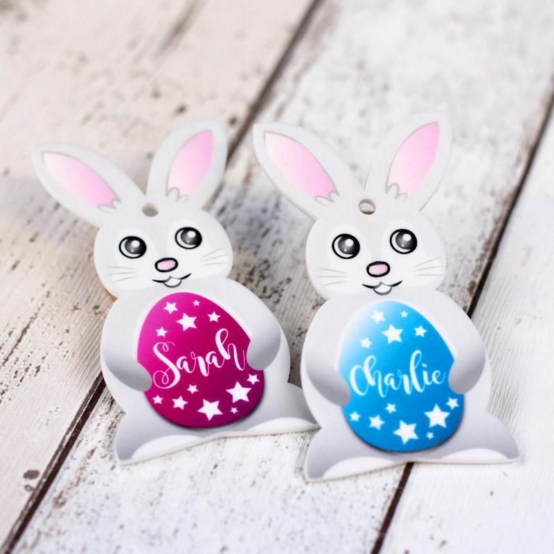 Personalised Printed Easter Bunnies.