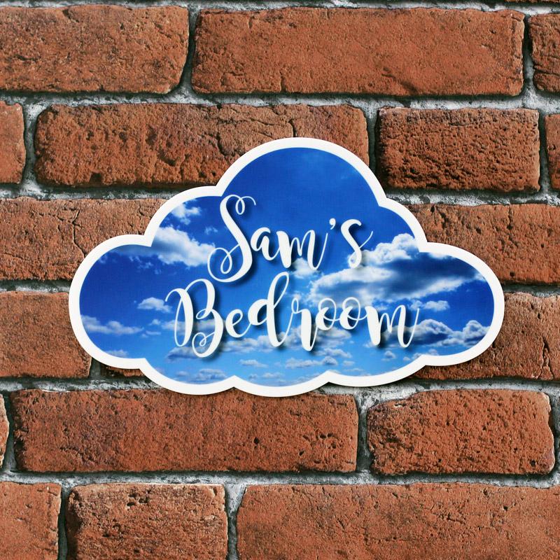 Personalised Printed Cloud Bedroom Plaques