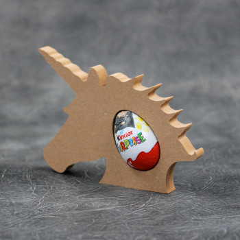 Unicorn Head Kinder Egg Holder 18mm Thick