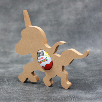 Unicorn Standing Kinder Egg Holder 18mm Thick