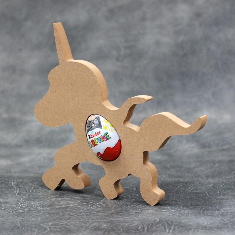 Unicorn Standing Kinder Egg Holder 18mm Thick