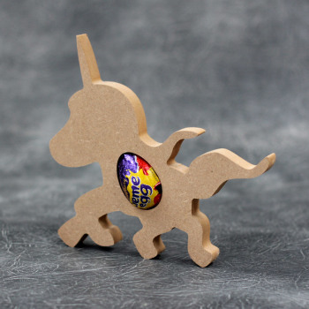 Unicorn Standing Creme Egg Holder 18mm Thick