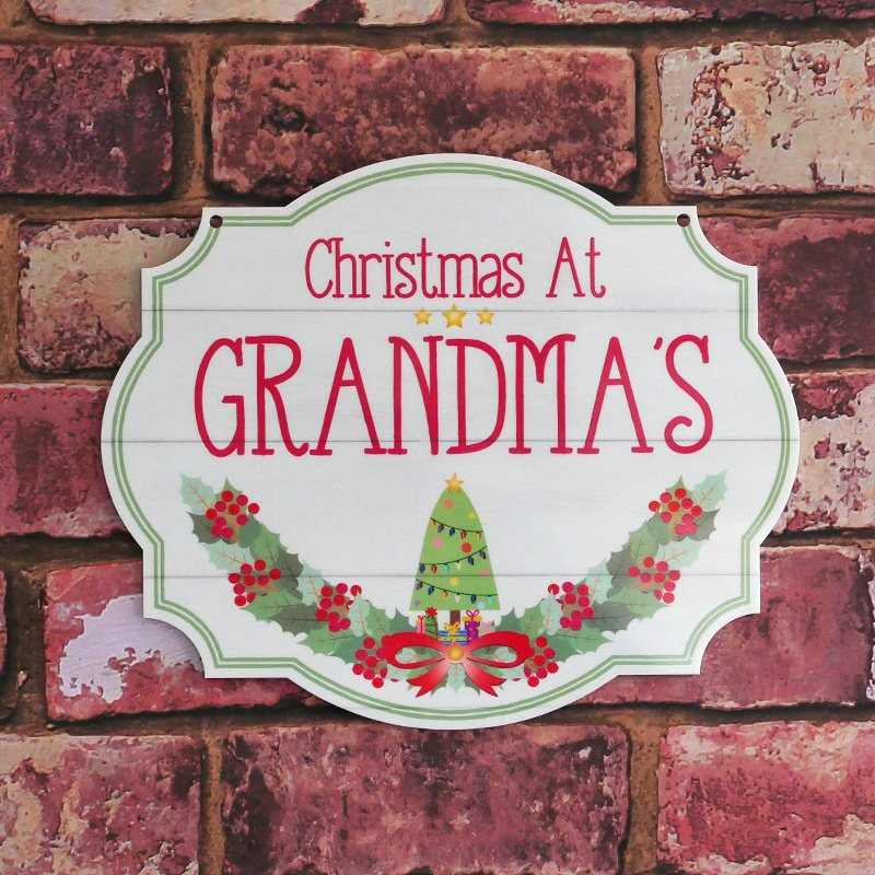 Personalised Printed Christmas At The Family Plaques