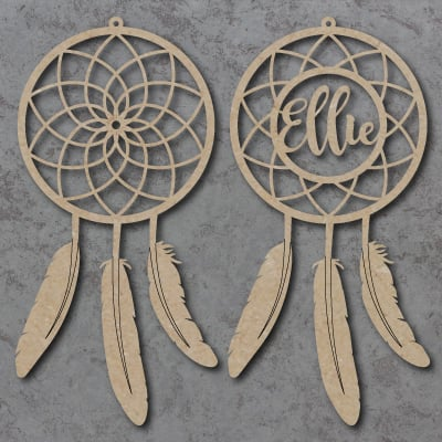 Personalised Dream Catcher With Feathers