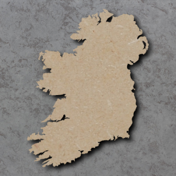 Map Ireland Craft Shapes