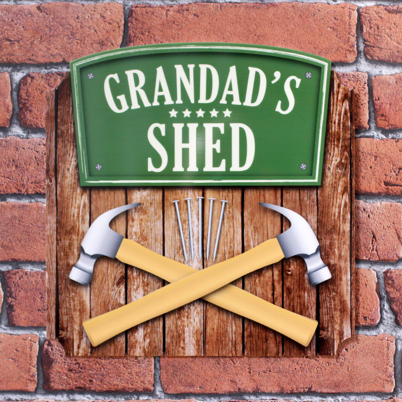 Personalised Printed Shed & Garden Tool Plaques