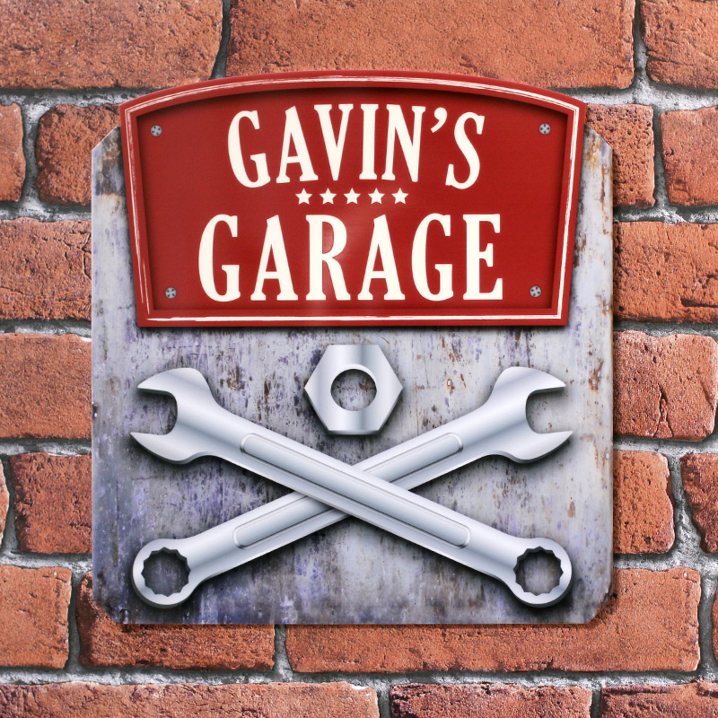 Personalised Printed Garage Tool Plaques