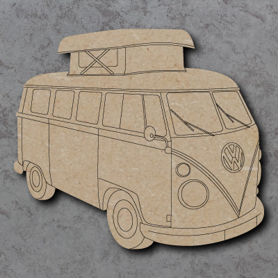 Camper Van with Pop Top Roof Craft Shapes