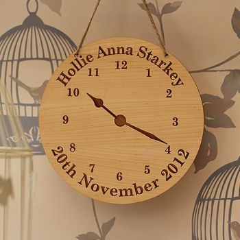 Personalised Birth Clock Sign