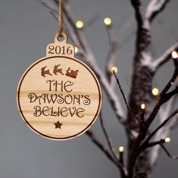 Personalised Believe Bauble