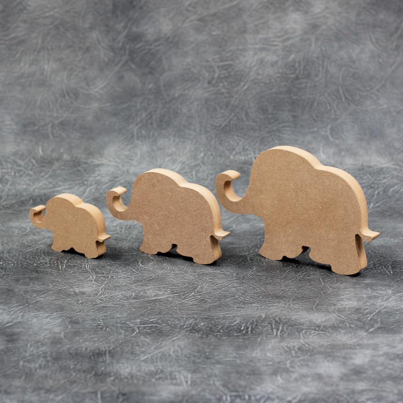 MDF Wooden Elephant shape various sizes freestanding craft shape