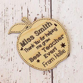 Best Teacher / Assistant Apple Coaster