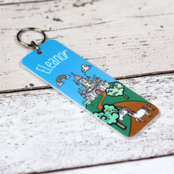 Printed Bag Tag - Personalised Princess Castle