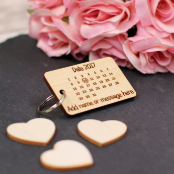 Personalised Calendar Keyrings / Tag