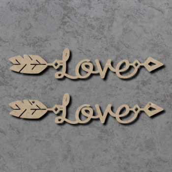 Love Arrow Craft Shapes