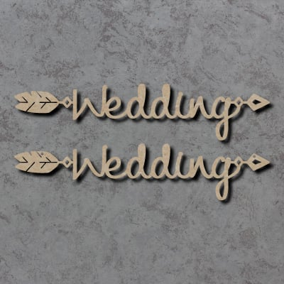 Wedding Arrow Word Craft Shapes