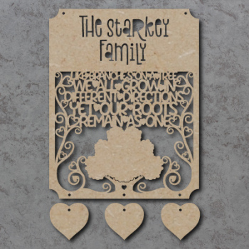 Family Roots Personalised Craft Sign