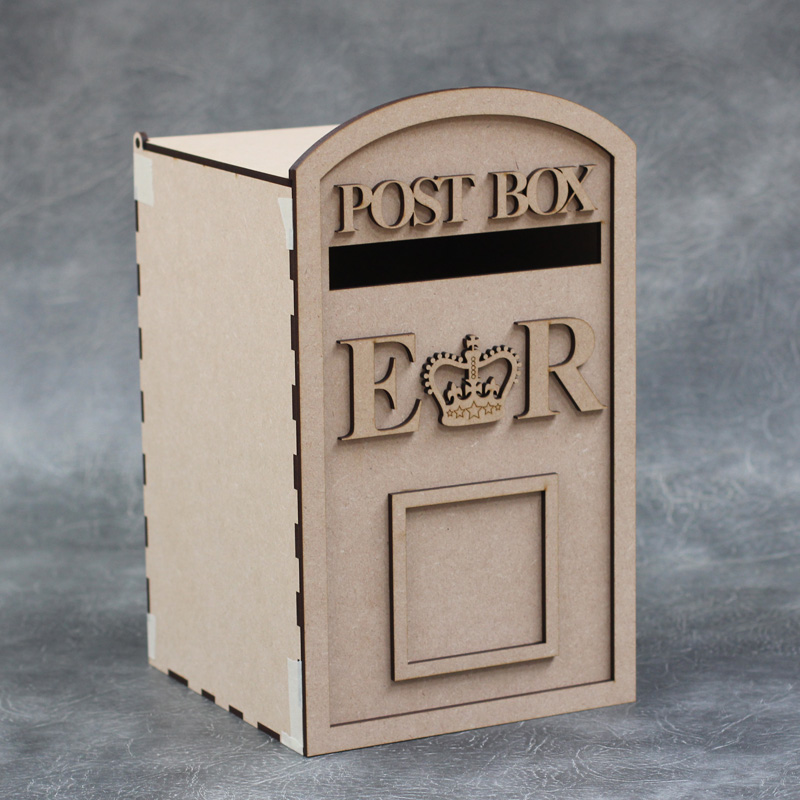 3D Wedding Open Top Letter Post Box Craft Kit Large