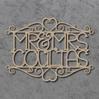 Mr & Mrs Swirly Wedding Sign