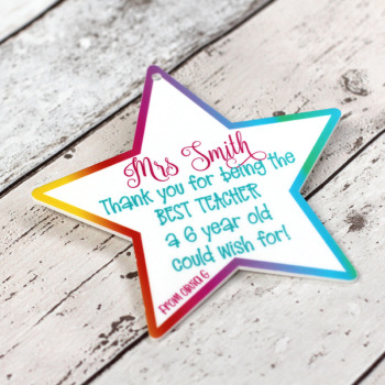 "Personalised ""Best Teacher"" Printed Teacher Plaque"