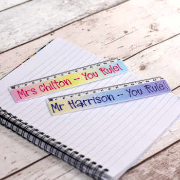 """You Rule"" Personalised 15cm Ruler Teacher Gift"