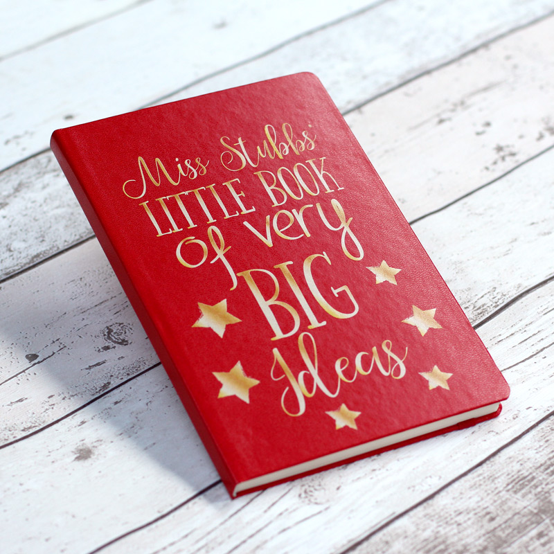 Little Book Of Big Ideas Personalised Notebook - Red
