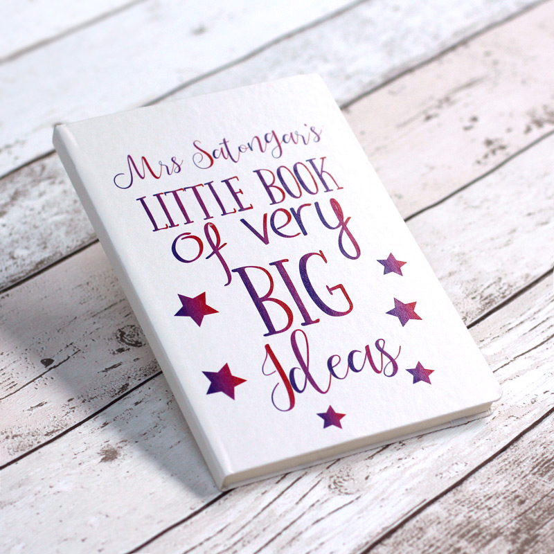 Little Book Of Big Ideas Personalised Notebook - White