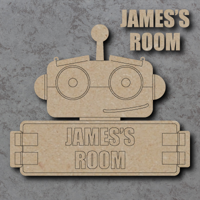 Robot Room Personalised Craft Sign